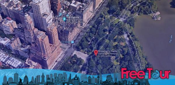 Dakota Apartments and Strawberry Fields - Strawberry Fields Central Park   John Lennon Memorial