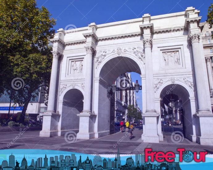 arco de marmol en londres 690x550 - Arco de mármol en Londres
