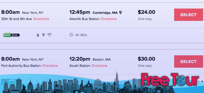 Autobús de Boston a Nueva York
