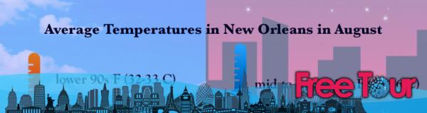 ¿Cómo es el clima en Nueva Orleans en agosto?