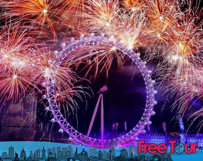 Ver el espectáculo de fuegos artificiales de Nochevieja en Londres